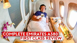 The Complete Emirates A380 First Class Review Feature Be Relax Pillow & Travel Products