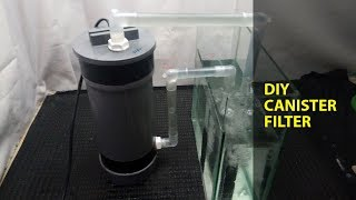 How to make canister filter using submersible power head