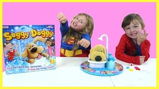 Playing Soggy Doggy Game | SUPERGIRL VS SPIDERGIRL  | The Disney Toy Collector