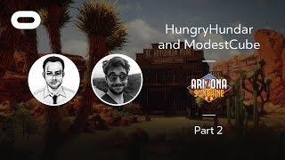 Arizona Sunshine   VR Playthrough - Part 2   Oculus Rift Stream with HungryHundar and ModestCube