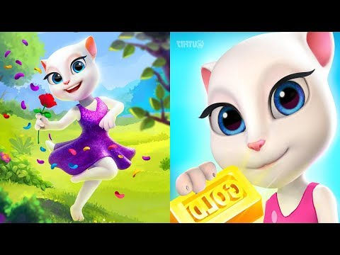 Talking Tom Gold Run - My Talking Angela Gameplay Great Makeover 2018