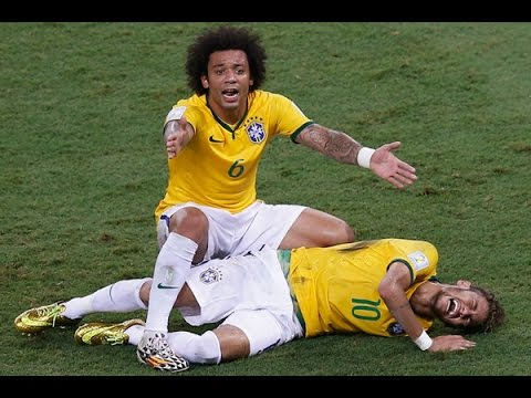 Trauma Neymar   Getafe vs Barcelona, 16 01 2014
