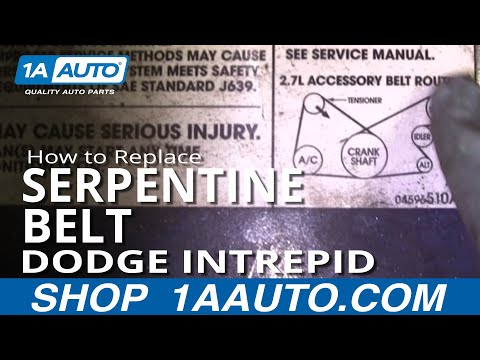 How To Install Replace Alternator Power Steering Belt Dodge Intrepid 2.7L 98-04 1AAuto.com