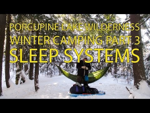 Winter Hammock Camping Sleep Systems