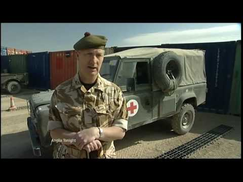 Anglia News Far From Home Afghanistan injured troops Camp Bastion + Messages Winter Weather Pictures