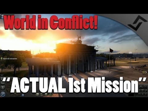 World in Conflict - ACTUAL 1st Mission - Cold War RTS