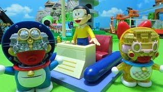 Doraemon and Dorami surprise Nobita♪