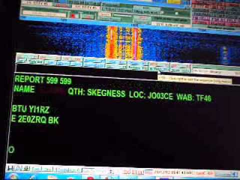 My RTTY QSO with 2E0ZRQ on 15m band in 28 12 2012