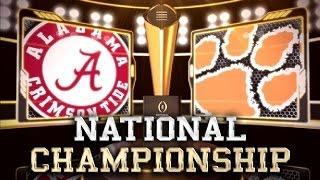 2016 National Championship No. 1 Clemson vs No. 2 Alabama No Huddle