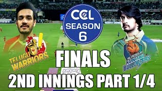 CCL6 Finals - Telugu Warriors vs Bhojpuri Dabanggs || 2nd Innings Part 1/4