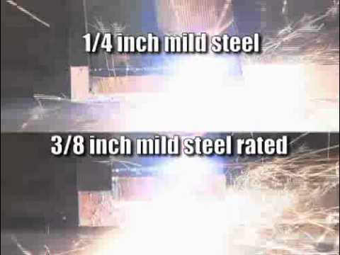 Miller Spectrum 375 Plasma Cutter Cutting Demo