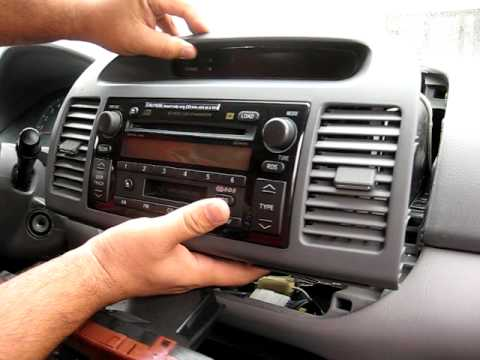 How to Remove Radio / CD Changer from 2003 Toyota Camry for Repair.
