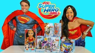 DC Super Hero Girls Toy Challenge + Wonder Woman and Superman ! || Toy Review || Konas2002