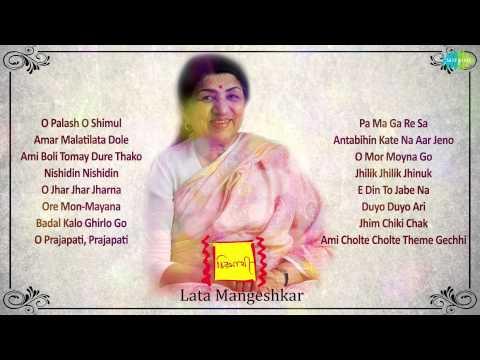 Chirosathi   Bengali Modern Songs Audio Jukebox   Lata Mangeshkar...