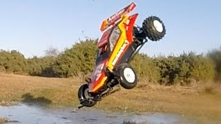 Awesome Tamiya Hornet classic 1980's RC buggy with fast 3500kv brushless motor