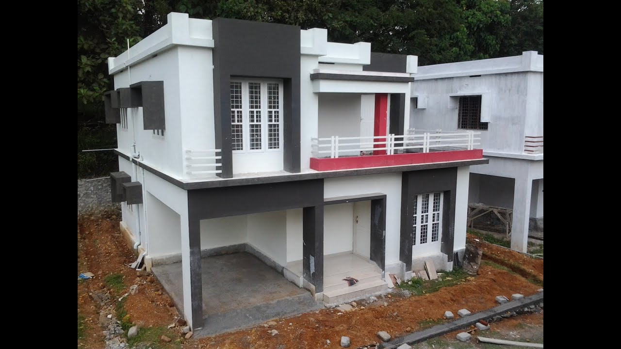 Low budget contemporary style villa project in angamaly for Best house design with low budget
