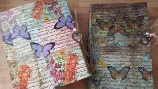 PROCESS VIDEO || Using Napkins on Junk Journal Covers ((SOLD))