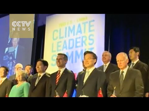 Climate change summit held ahead of Xi's visit to the US