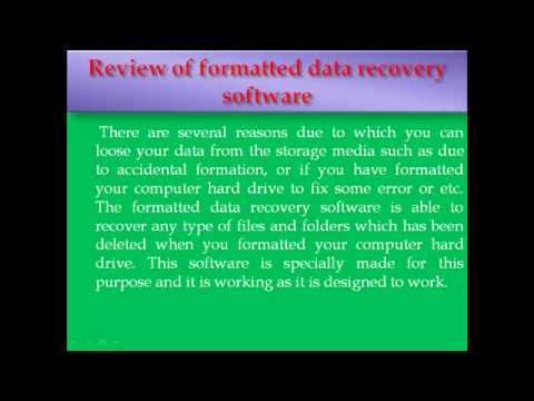Formatted Data Recovery Software  Review