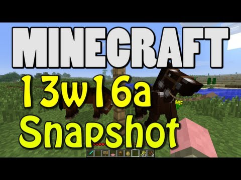 Minecraft Snapshot 13w16a (HORSES! MULES! SADDLES! CARPETS!)