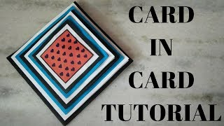 card in card tutorial | maze cardl | pyramid card\mothers day cards\card for scrapbook