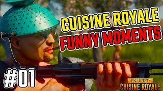 NEW BATTLE ROYALE GAME!! Cuisine Royale funny Moments #01