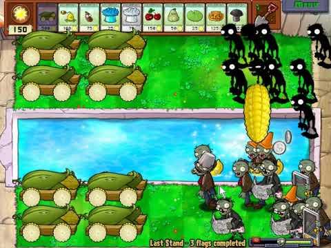 Hoa quả nổi giận   5000 mặt trời cho sẵn để chiến thẵng Zombies
