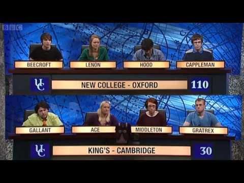 University Challenge S42E28 - New College, Oxford vs King's, Cambridge