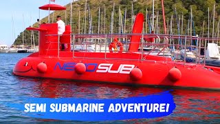 Red Semi Submarine adventure | Family Fun Channel