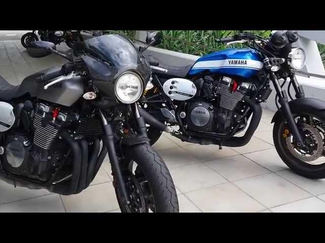 Vid�o Yamaha XJR 1300 et XJR 1300 Caf� Racer : Pr�sentation !