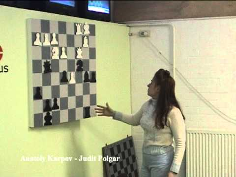 Judit Polgar analyzing her win over Karpov in Wijk aan Zee in 2003 - Part2