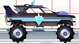 Xe cảnh sát   Pipo và xe cứu hộ/ hoạt hình dành cho thiếu nhi giống như Minecraft