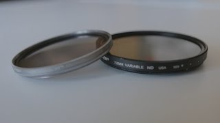 polarising filter combined with a neutral density filter.