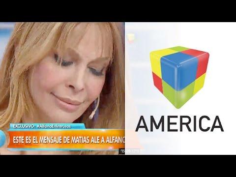 Graciela Alfano lloró cuando le leyeron la conmovedora carta de Matías Alé