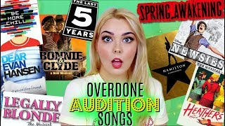 Overdone Musical Theatre Audition Songs