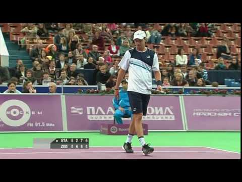 01 November 2009. ATP-250.St Petersburg. Final Sergiy Stakhovsky - Horacio Zeballos. (last 9 minutes of the match). Score: 2-6, 7-6(10-8), 7-6(9-7) (Recorded...