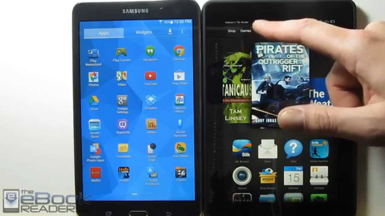 kindle fire hdx vs samsung galaxy tab 4 comparison review   youtube