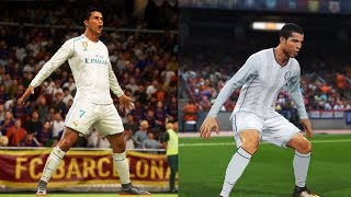 FIFA 18 vs PES 2018 Graphics + Player Animations Comparison