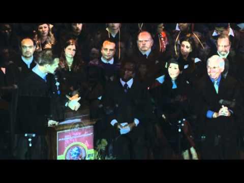 Fremont College Graduation 2012 - Keynote Speaker, Matt Nordgren