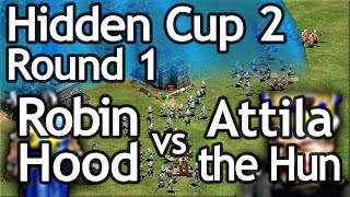 AoE2 Hidden Cup #2 | Robin Hood vs Atilla the Hun! Round of 16!