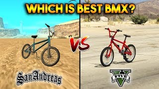 GTA 5 BMX VS GTA SAN ANDREAS BMX : WHICH IS BEST?