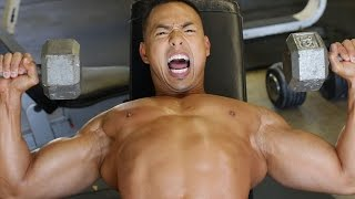 Mike trains Crazy on chest day - E.R.O.M Training
