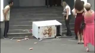 Drunk Russian Movers vs Fridge