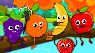 Five Little Fruits | Fruits Song For Kids | Learn Fruits | Nursery Rhymes Baby Songs For Children