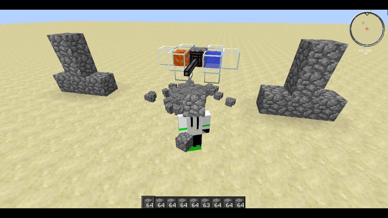 Как сделать генератор булыжника в minecraft