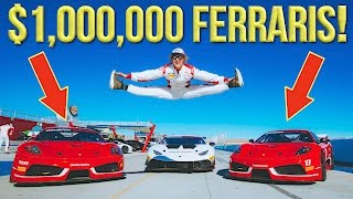RACING FERRARIS AT A BACHELOR PARTY!