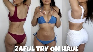 BIKINI TRY ON HAUL WITH MY NEW BODY! | Zaful
