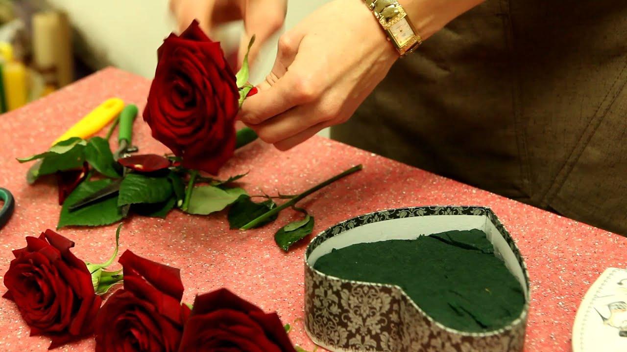 Как сделать цветы в коробке живые