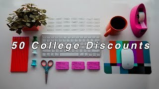50 College Discounts for Back to School 2018-2019!