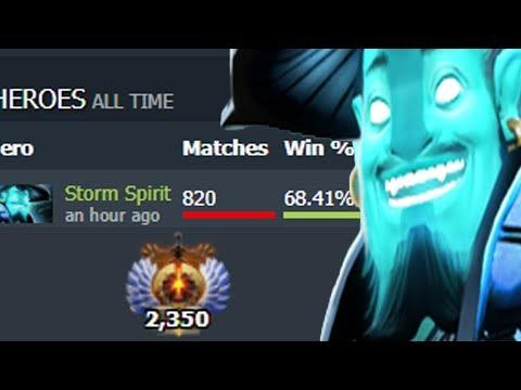 ШТОРМ 70% ПОБЕД НА 6000 ММР! НОВЫЙ СУМАИЛ? Storm Spirit Dota 2